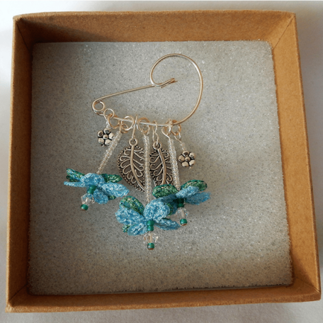 Flower Fairy Brooch Blue