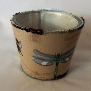 Candle with dragonfly