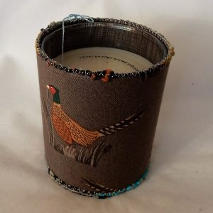 Candle pheasant design handmade by the Textile Alchemist