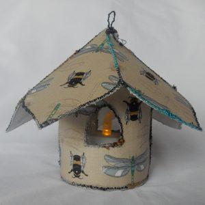 Fairy Tea Light House Dragonfly Cream