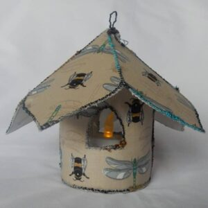 Fairy Tea Light House Dragonfly Cream