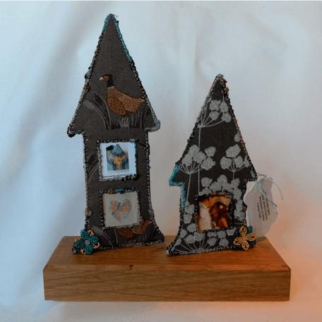 New Forest Fairy House Photo Frame handmade by Textile Alchemist