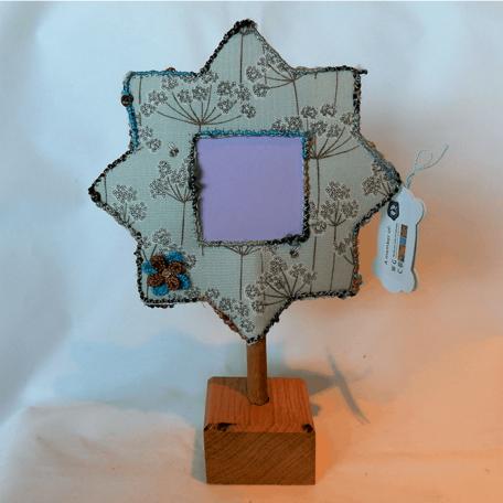 New Forest flower Photo Frame handmade by Textile Alchemist.