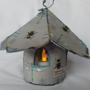 Fairy tea light house with dragonfly design