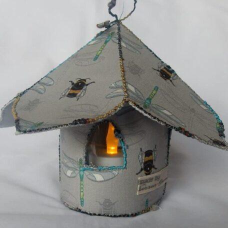 Fairy tea light house with dragonfly design