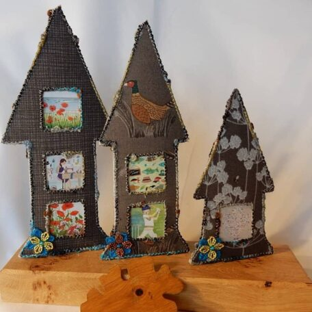 New Forest Fairy House Photo Frame handmade by Textile Alchemist