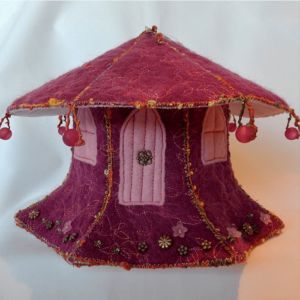 Standfields Fairy House handmade by The Textile Alchemist