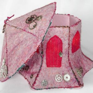 Whistlers Fairy House handmade by The Textile Alchemist